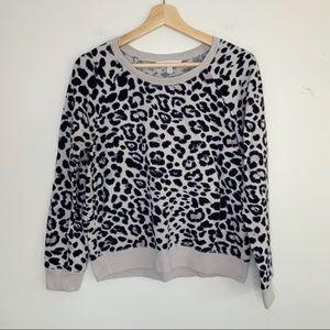 Victoria's Secret Gray Leopard Print Sweatshirt